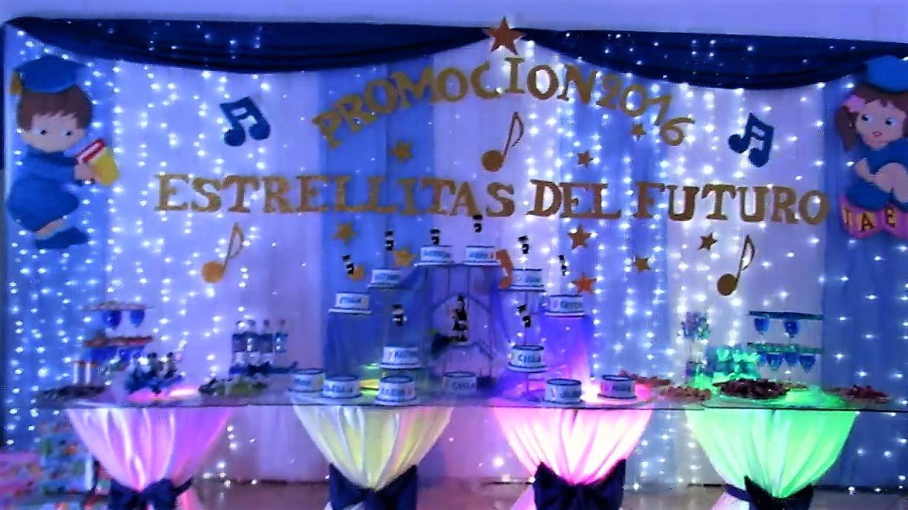 Como decorar una fiesta de promoci n youtube - Como decorar una mesa para una fiesta ...