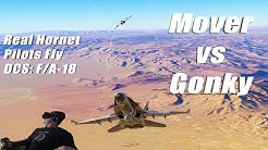 Real Hornet Pilots Fly Together in DCS: F/A-18 (using VR) | Mover vs Gonky