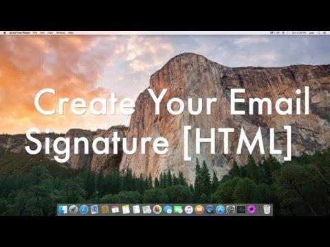 Create Email Signature On Mac [HTML Code] El Capitan