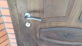 як зробити отвір вхідних дверей панелями