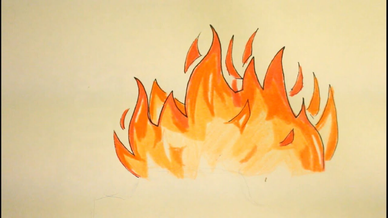 How To Draw Flames|Fire|Easy|Step By Step|For Beginners|On ...Fire Flames Drawing