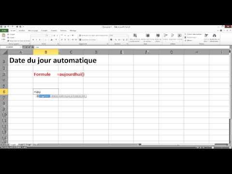 Tuoriel Excel Date du jour Aujourdhui