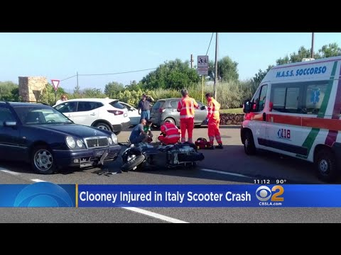 George Clooney Injured In Scooter Crash In Italy