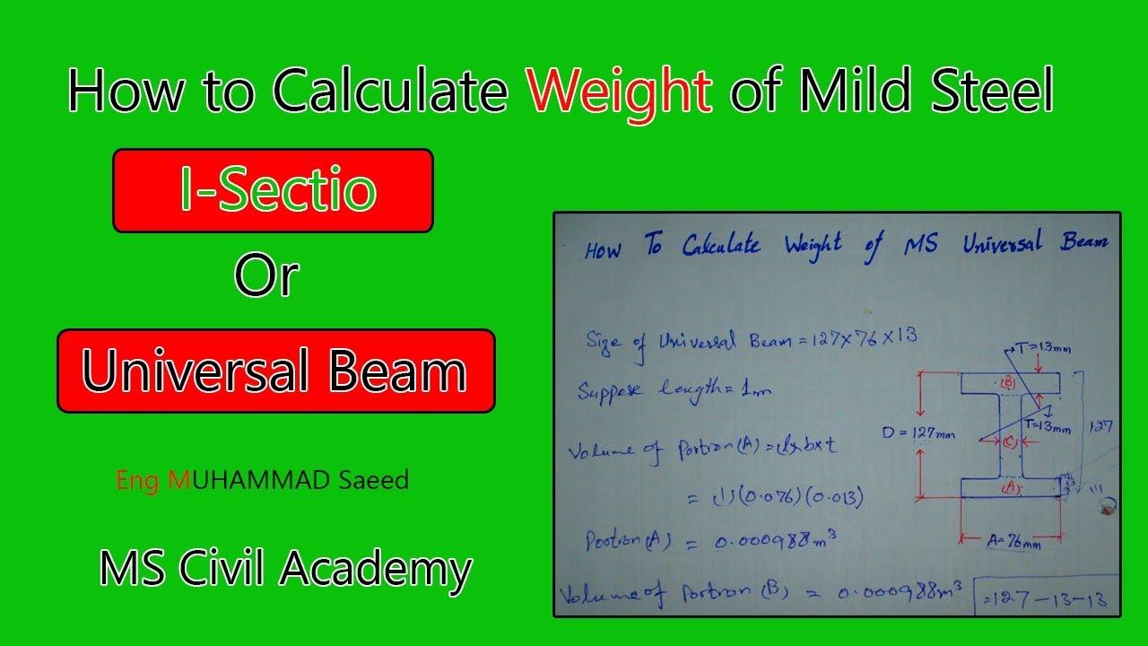 ISMB BEAM WEIGHT CHART PDF