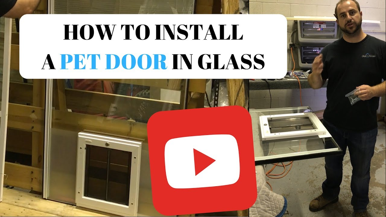How to install a pet door in glass youtube how to install a pet door in glass planetlyrics Gallery