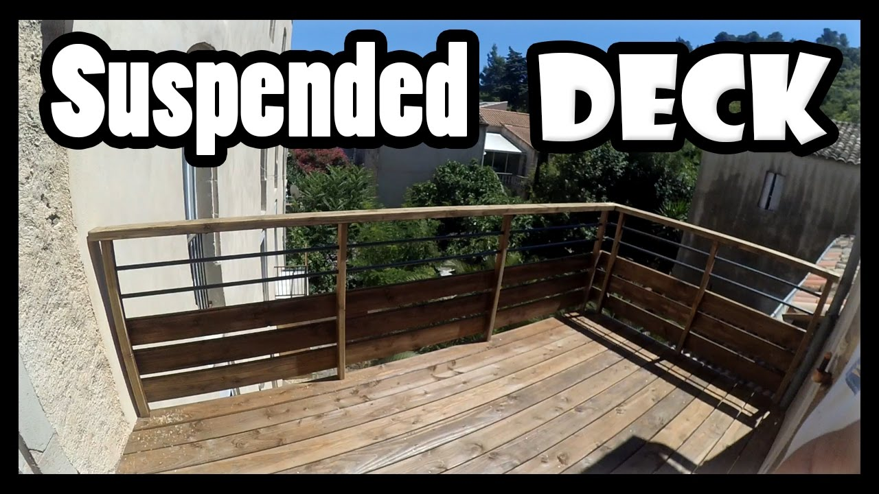Building a SUSPENDED DECK / WOODEN BALCONY - YouTube