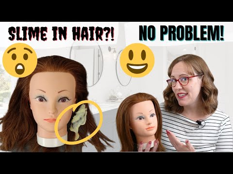 How To Remove Slime From Hair Youtube