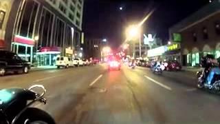 American Legion Riders night ride through Indianapolis