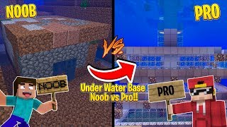 Minecraft NOOB vs PRO - UNDER WATER SECRET BASE!!
