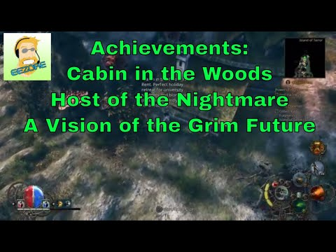 Van Helsing III: Achievements Host of the Nightmare, Cabin in the woods, A Vision of the Grim Future