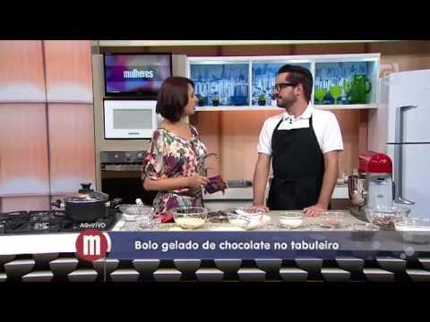 Mulheres - Bolo Gelado de Chocolate no Tabuleiro (06/03/15)