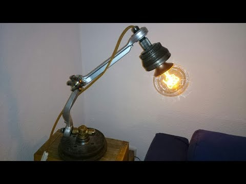 Industrial Lamp Out Of Car Parts (VW Table Lamp)