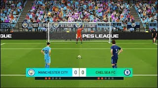 MANCHESTER CITY vs CHELSEA FC   Penalty Shootout   PES 2018 Gameplay PC