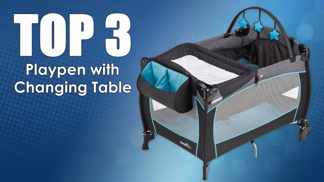 playpen with changing table  youtube -