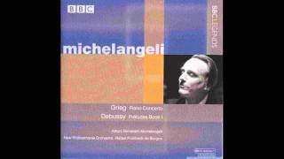 Grieg, Piano Concerto in A minor - I. Allegro molto moderato - Michelangeli, de Burgos