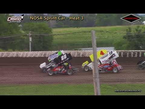 NOSA 410 Heats - Casino Speedway - 6/24/18