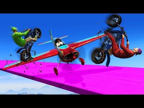 STUNT PLANES VS BIKE RUNNERS! (GTA 5 Online)