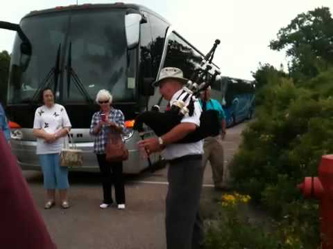 Tour Guide Plays Bagpipes