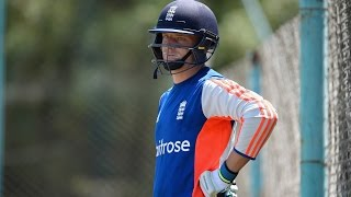Jos Buttler back in the nets at Emirates Old Trafford