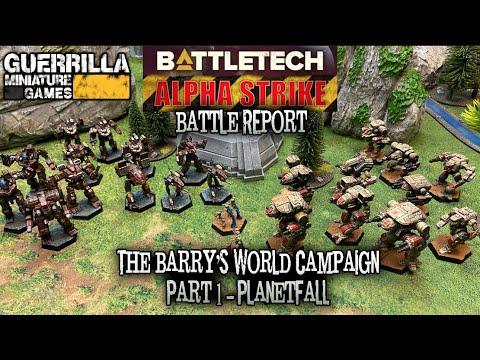 BATTLETECH: Alpha Strike - The Barry's World Campaign: Part 1 - Planetfall - Guerrilla Miniature Games