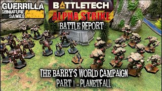 BATTLETECH: Alpha Strike - The Barry's World Campaign: Part 1 - Planetfall