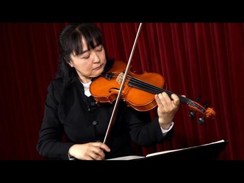 島根恵さん 練習曲をめでるバイオリニスト
