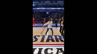 Renegade dance creator Jalaiah Harmon performed at the NBA All-Star game.