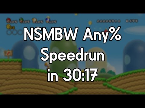 New Super Mario Bros  Wii Speedrun in 30:17