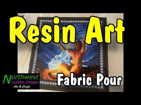 Resin Art, Clear Resin Fabric Pour by Sherry Scribner | Northwest Custom Images V8 #resinart