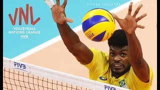 Isac Santos Top 10 Best Volleyball Actions VNL 2018