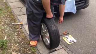 高速道路でタイヤがパンク!なときに役立つ、自分でパンク修理法 thumbnail