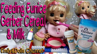Feeding 2007 Baby Alive Learns To Potty Doll Eunice Gerber Cereal & Milk🍼(Feeding&Changing)
