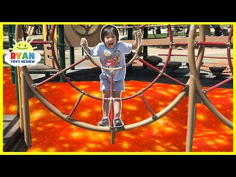 The Floor is Lava Challenge at the Playground Park for Kids!