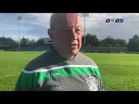 Lucan Sarsfields manager Sean McCaffrey speaks to Dubs TV after Quarter Final win