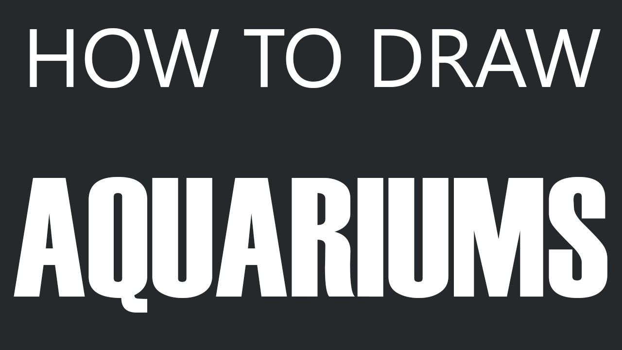 Fish tank drawing pictures - How To Draw An Aquarium Fish Bowl With Two Fish