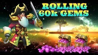 Castle Clash Rolling 60k Gems For Talents! Lv5 Talent Box x2!