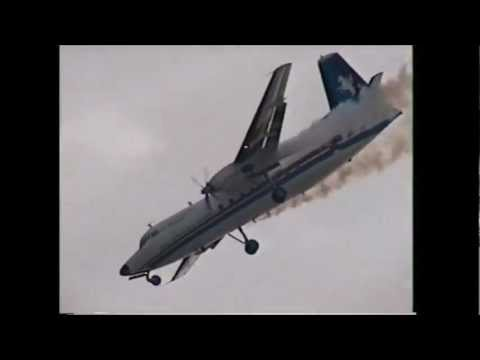 RNLAF Fokker F-27 display at the 1995 Leuchars Airshow