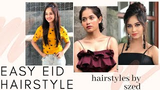 Eid 2020 Hairstyles For Long & Short Hair|cute Hairstyles For Eid|jannat  Zubair Inspired Hairstyles