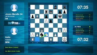 Chess Game Analysis: 0o0o - Jovan Mandic 34 : 1-0 (By ChessFriends.com)