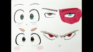 How to draw: My Hero Academia Eyes Step by Step