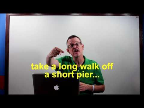 Learn English: Daily Easy English 1016: take a long walk off a short pier…