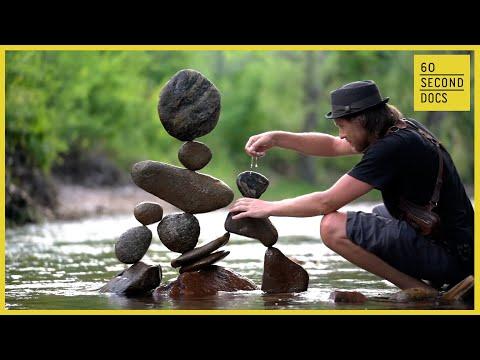 Michael Grab The Rock Balancer Defies Gravity