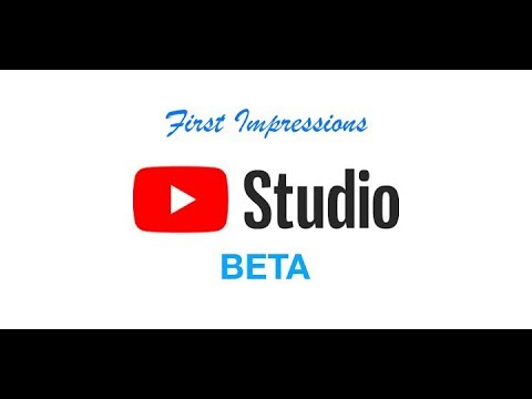 Youtube Creator Studio Beta first impressions
