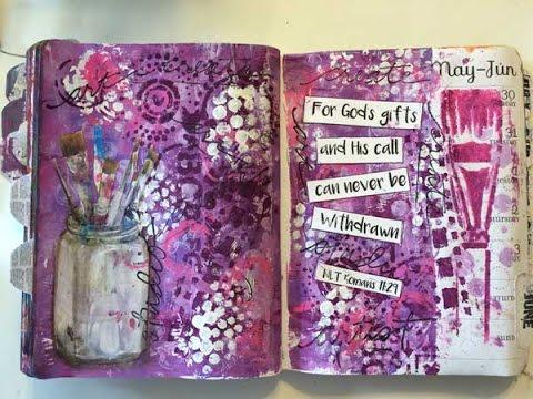 Technique Thursday #16 Mixed Media Paintbrush Art Journal Page