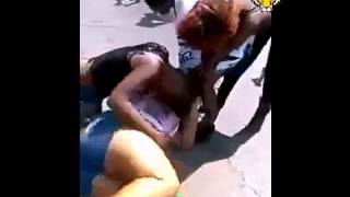 Girls fighting in street