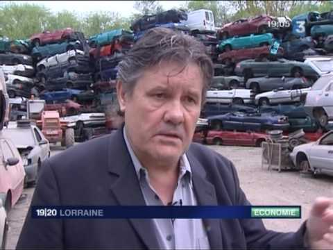 reportage prime la casse auto thionville france3. Black Bedroom Furniture Sets. Home Design Ideas