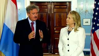 Secretary Clinton Delivers Remarks With Luxembourg Deputy Prime Minister Asselborn