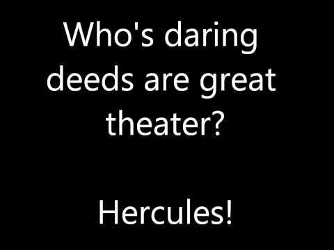 Hercules-Zero to Hero lyrics