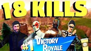 18 Bot Kills In a Game! - Fortnite Battle Royale High Kill Game - Fortnite XBox One - LBJ's Cafe