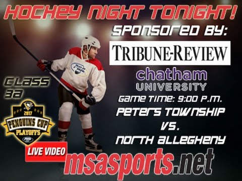 MSA Sports Hockey Spotlight - Playoffs:  Peters Township vs. North Allegheny    3/15/17